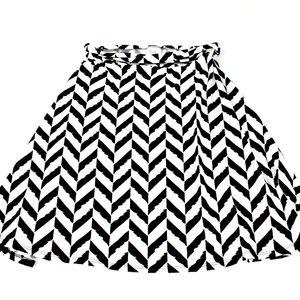 LuLaRoe LLR Azure Black White Herringbone Skirt